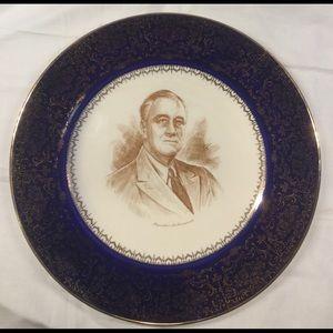President Franklin Delano Roosevelt plate